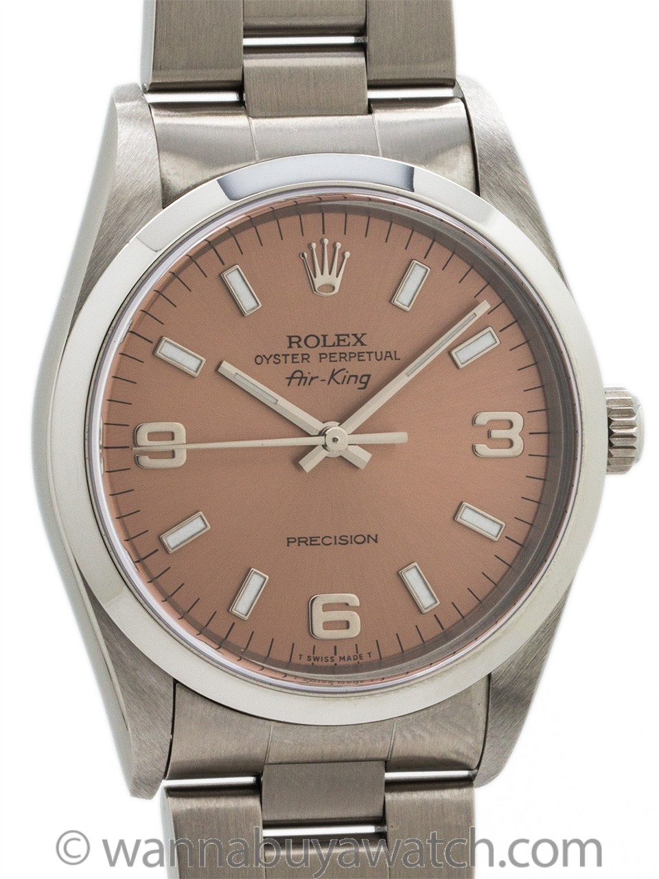 Rolex Airking ref 14000 Antique Rose Explorer Dial circa 2000