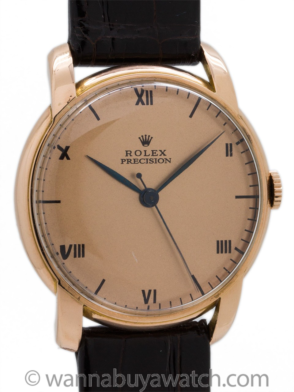 Rolex 18K Rose Gold Dress Model circa 1940's