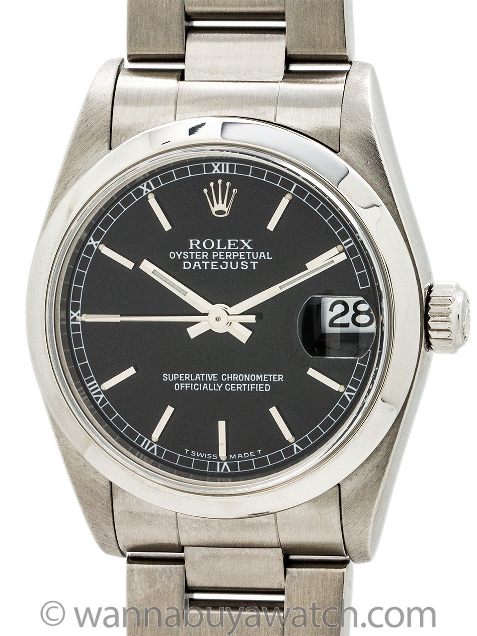 Rolex Midsize Datejust ref 78240 Stainless Steel circa 2001