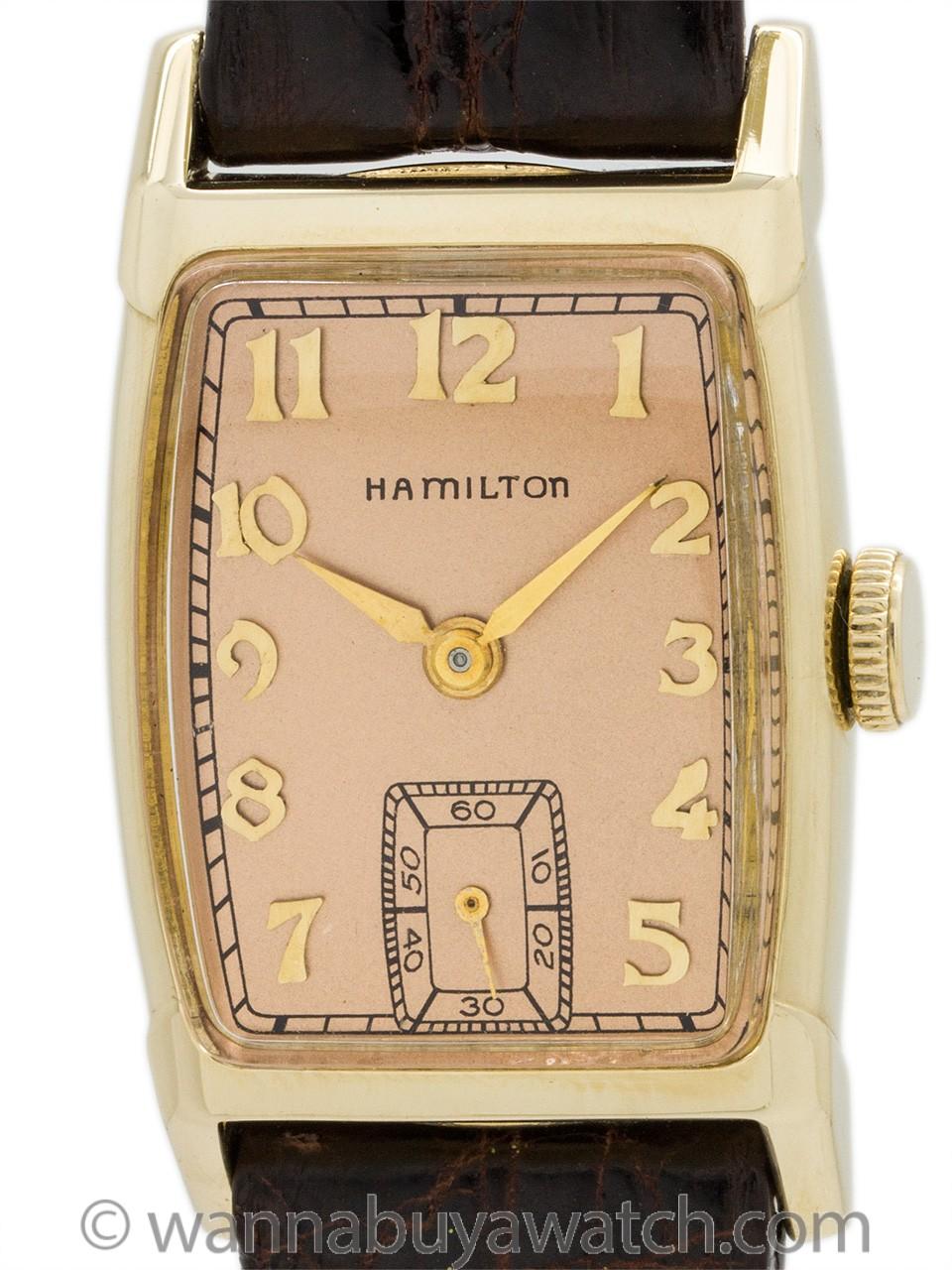 """Hamilton """"Donald"""" 14K YG circa 1940's"""