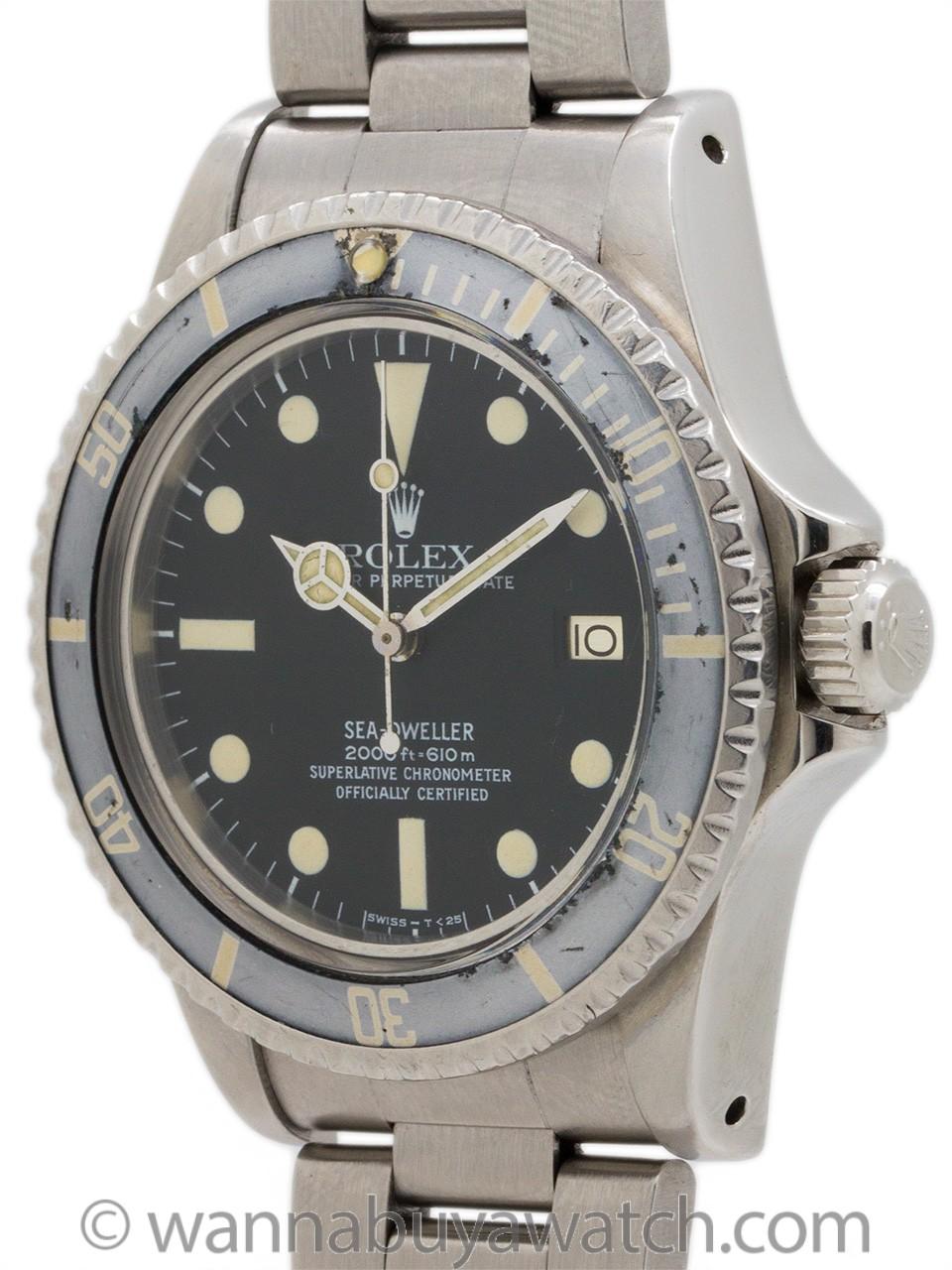 """Rolex Seadweller ref 1665 """"Great White"""" circa 1978"""
