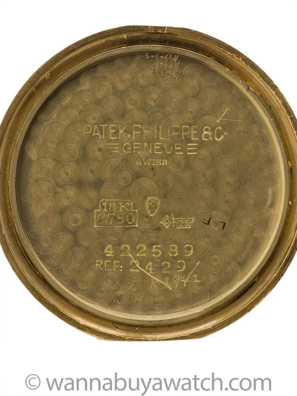 Patek Philippe 18K YG Ref 2429 circa 1955+