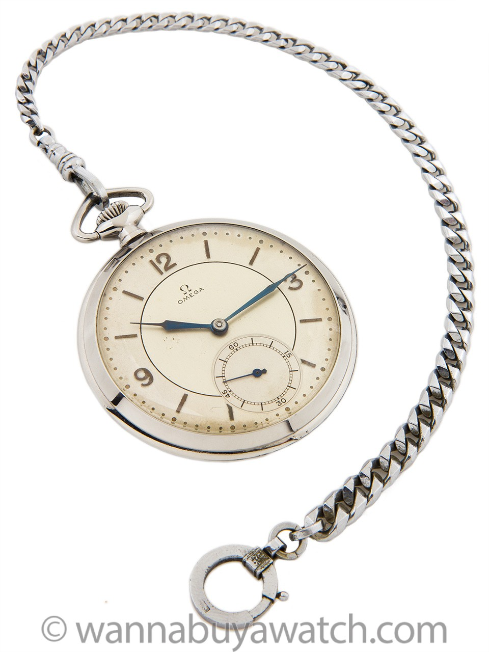 Omega Pocketwatch Stainless Steel circa 1930s