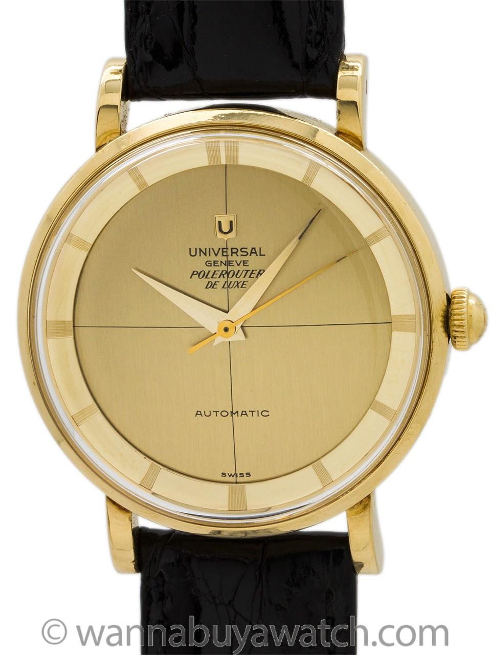 Universal Geneve Pole Router De Luxe Chronometer circa 1960's