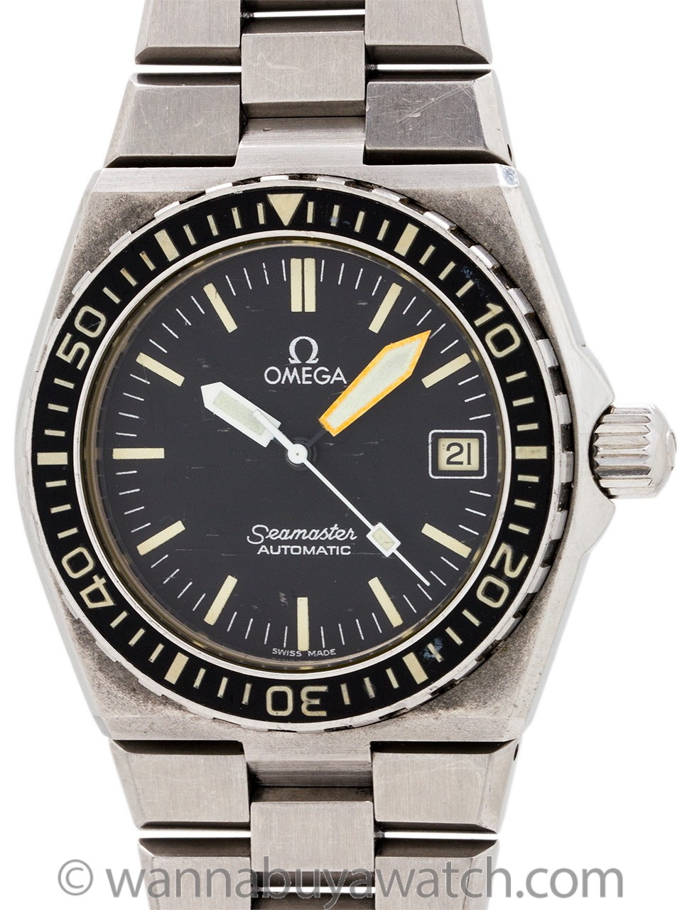 "Omega Seamaster 120 ""Baby Ploprof"" Diver's ref 166.025-1 circa 1979"