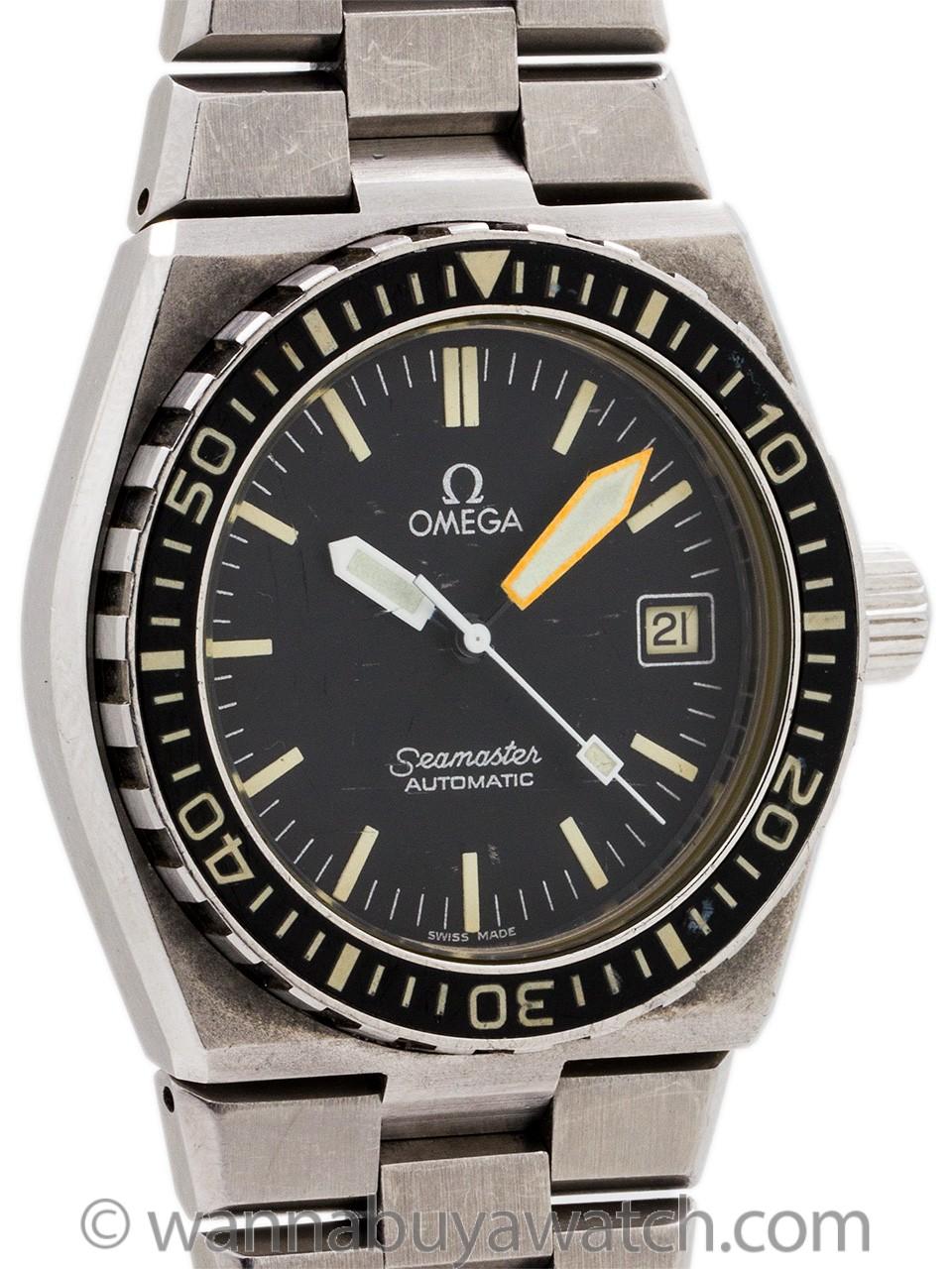 "Omega Seamaster 120 ""Baby Ploprof"" Diver's ref 166.025-1 circa 1979"