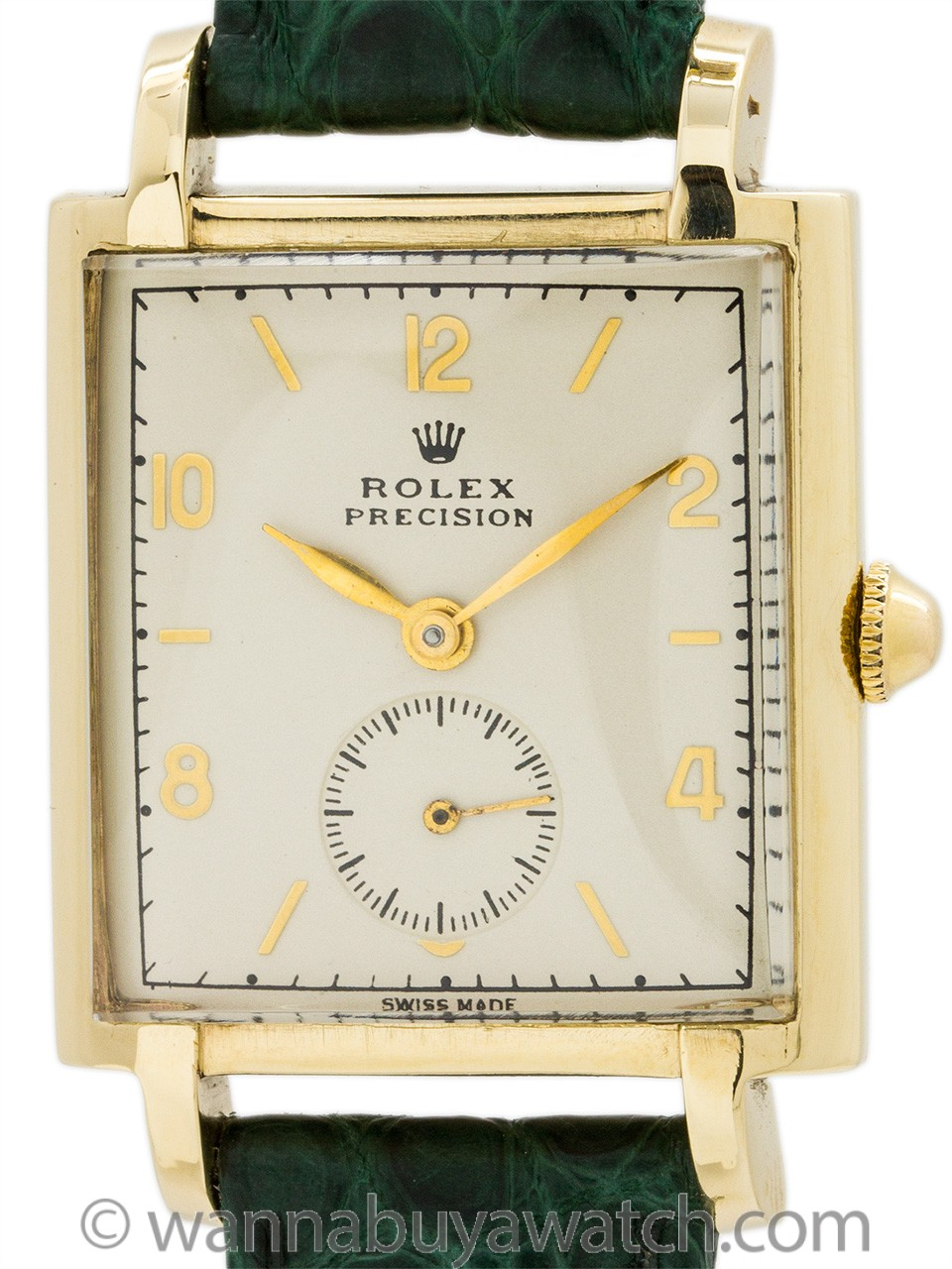 Rolex ref 4029 9K Gold Manual Wind Dress Model circa 1940's