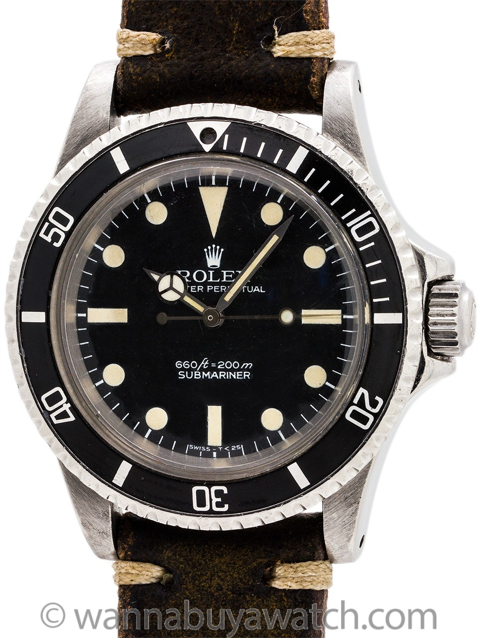 Rolex Submariner ref 5513 Stainless Steel circa 1978