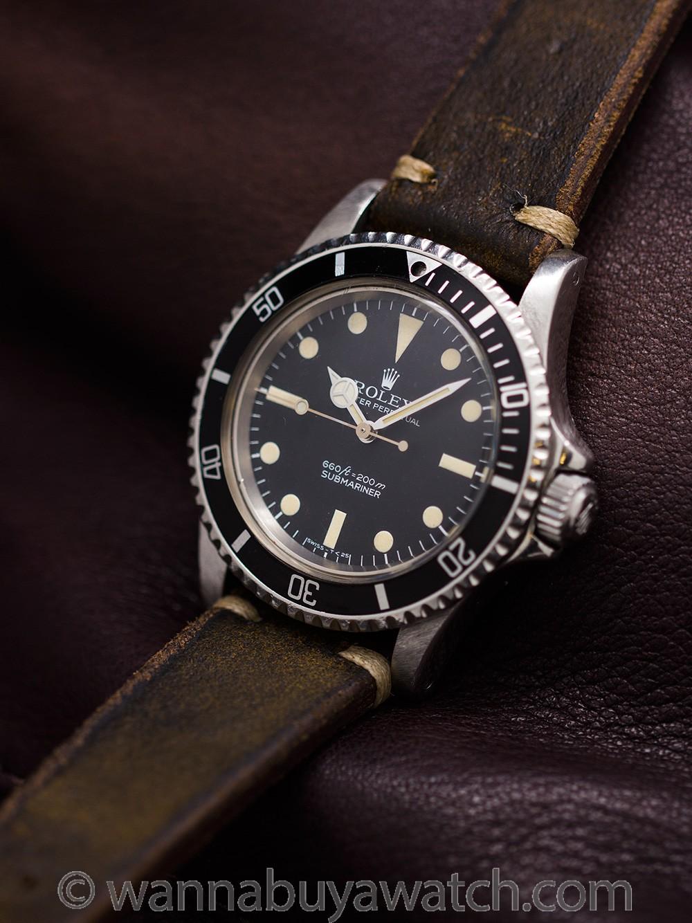Rolex Submariner ref 5513 Stainless Steel circa 1978
