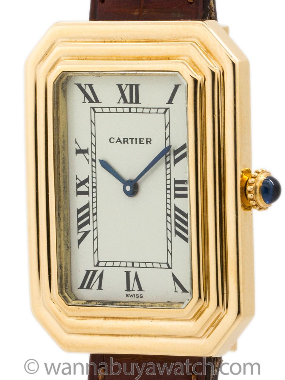 """Cartier 18K YG Man's """"Cristallor"""" circa 1973"""