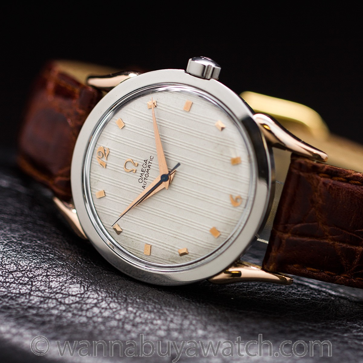 Omega Automatic ref# 2597-1 Steel & Rose Gold circa 1947