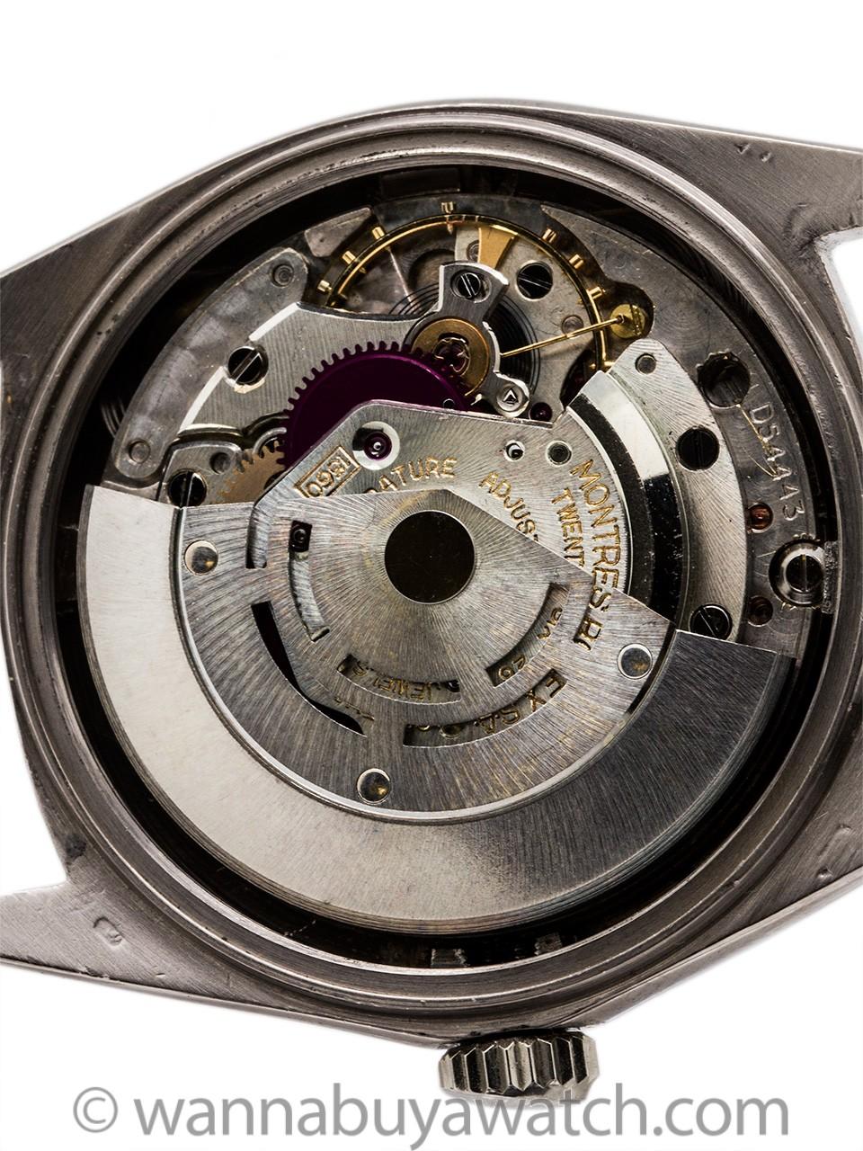 Rare Rolex Datejust ref 1601 18K White Gold Black Pie Pan Dial circa 1963