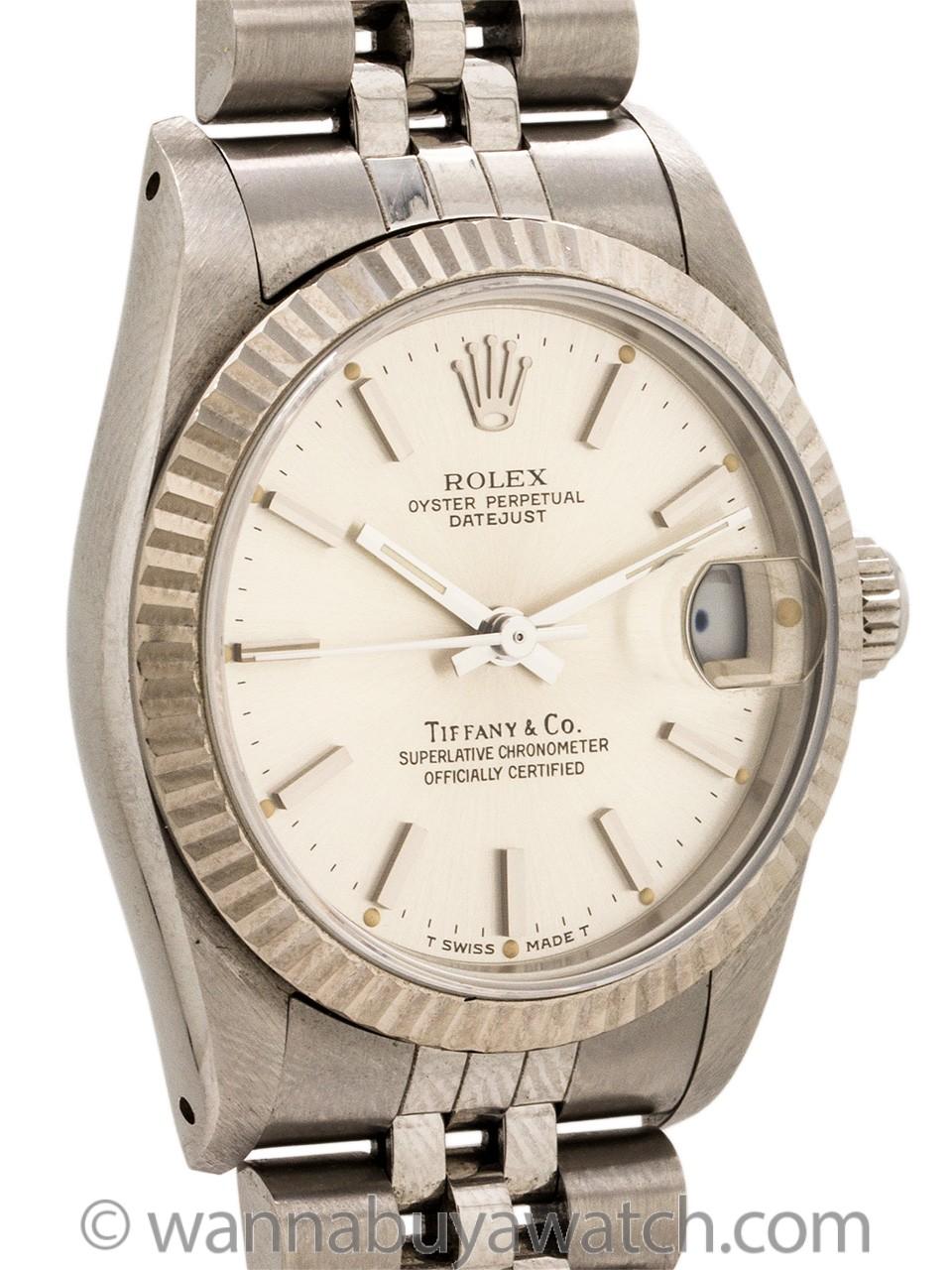 Rolex Midsize Datejust Tiffany & Co ref 68274 circa 1988 Box & Papers+