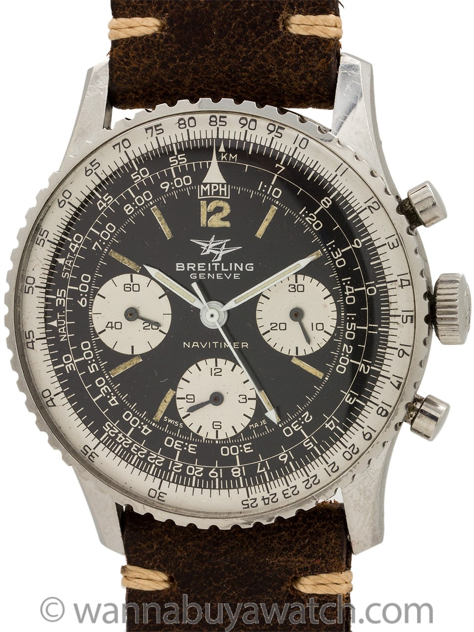Vintage Breitling Navitimer ref 806 Twin Jets circa 1970