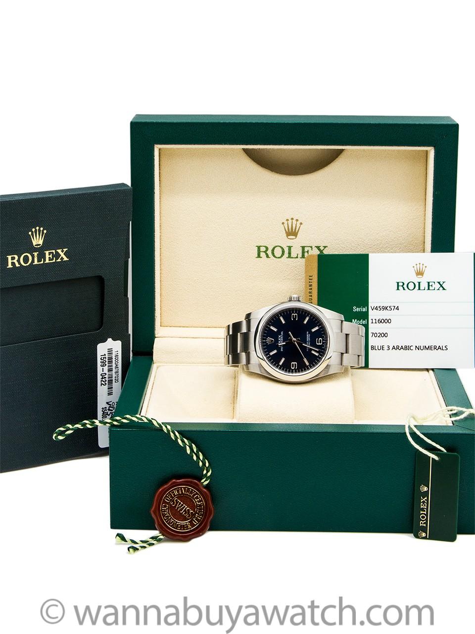 Rolex Oyster Perpetual ref 116000  B & P circa 2016