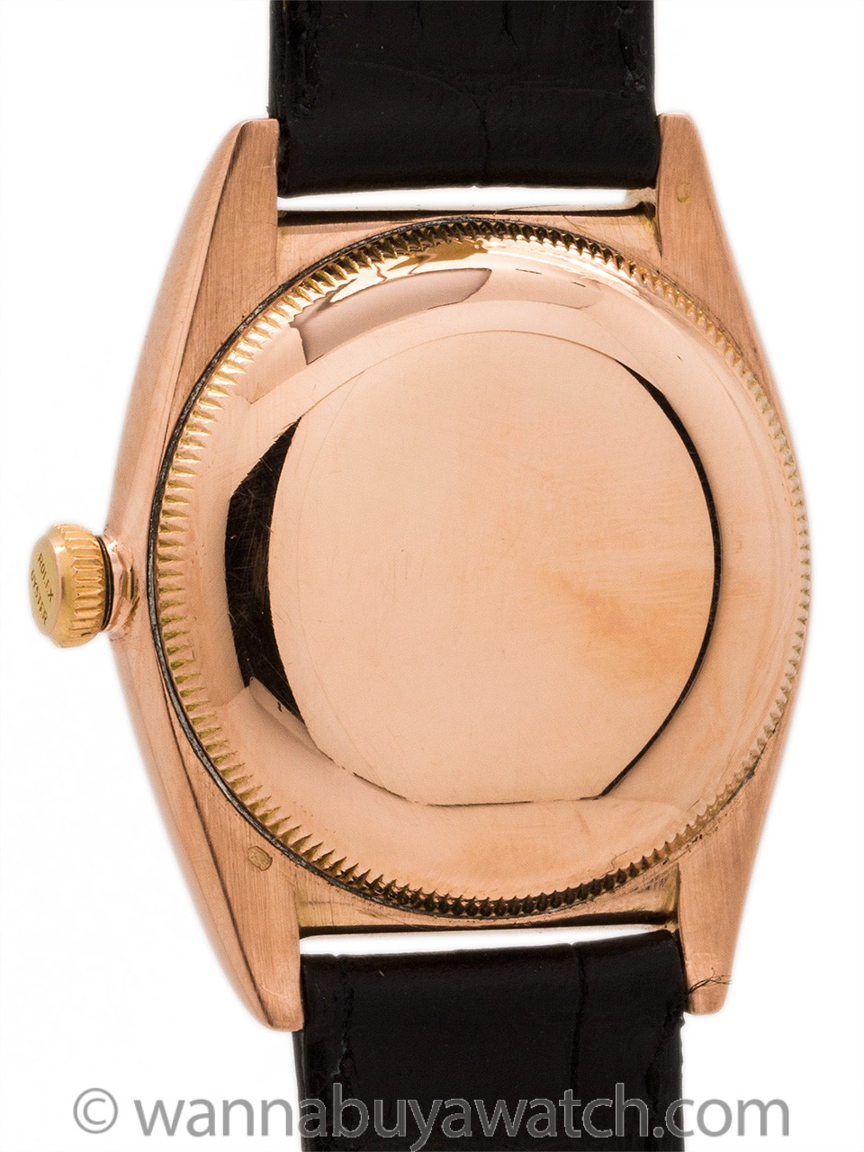 Rolex Bubbleback 14K Rose Gold Original Black Dial circa 1946