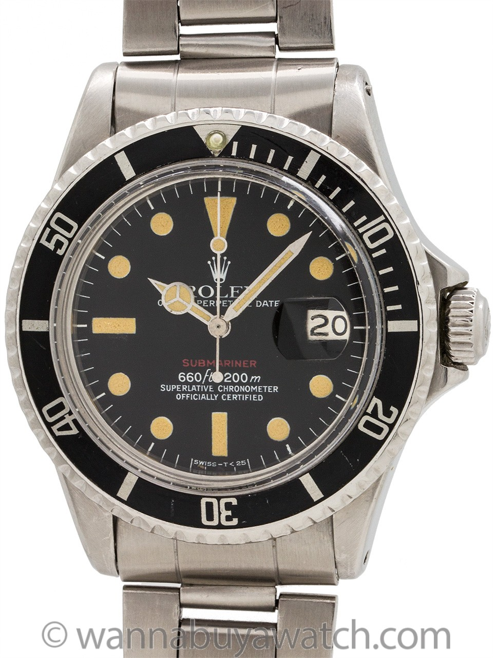 "Rolex ref 1680 ""Red"" Submariner Stainless Steel circa 1973"