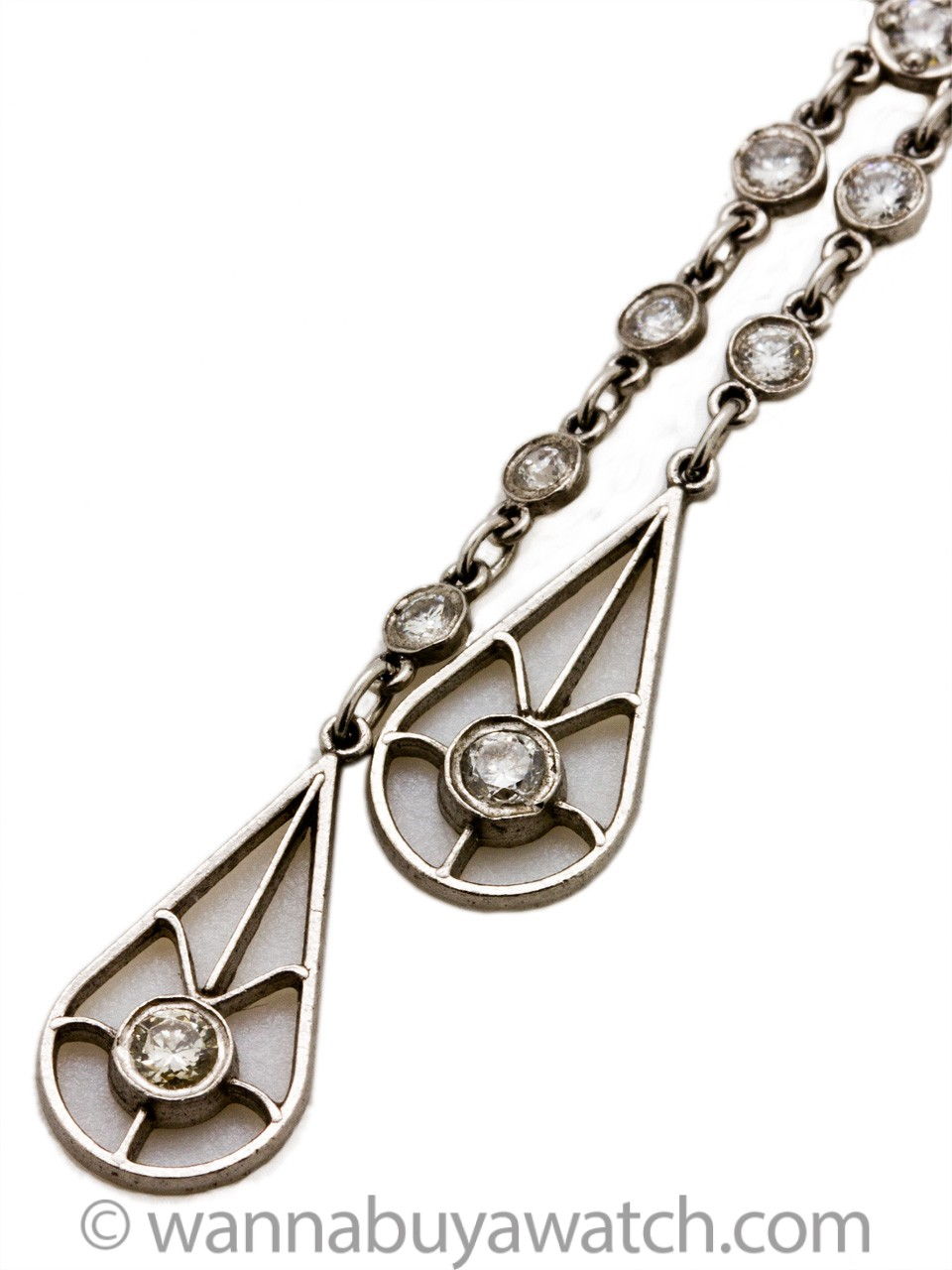 Edwardian Inspired Platinum & Diamonds Necklace