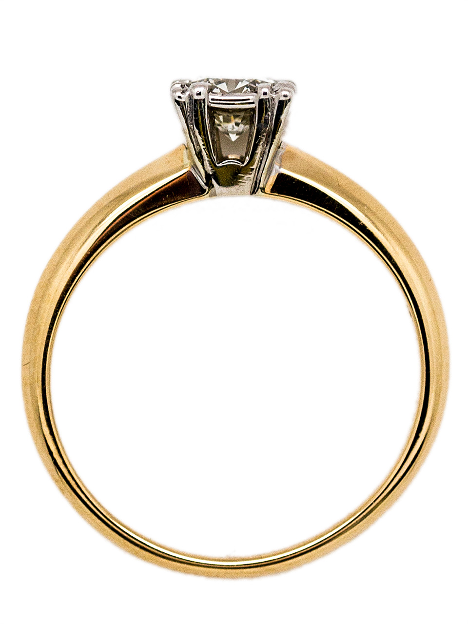 Vintage Solitaire Engagement Ring 0.40ct Transitional Cut I-VS2 circa 1940s