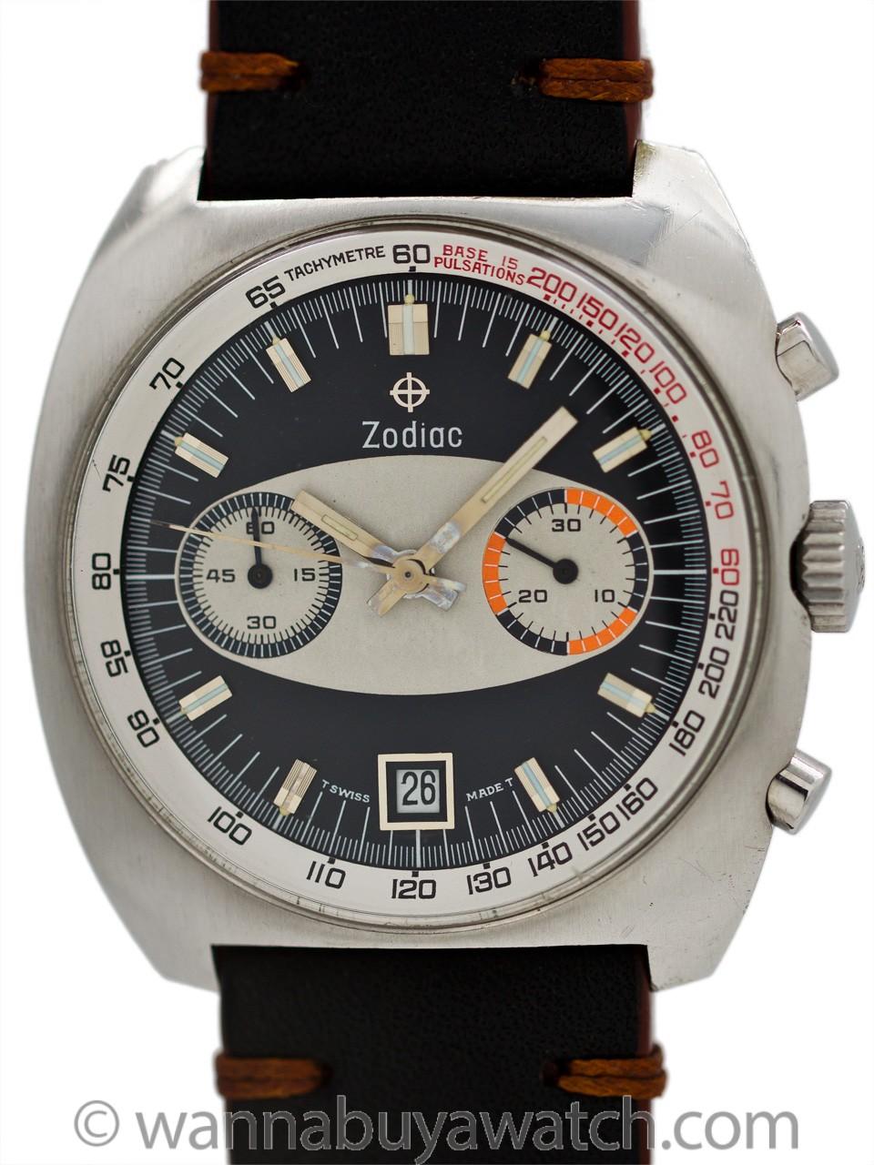 Zodiac Chronograph Race Track Dial circa 1970