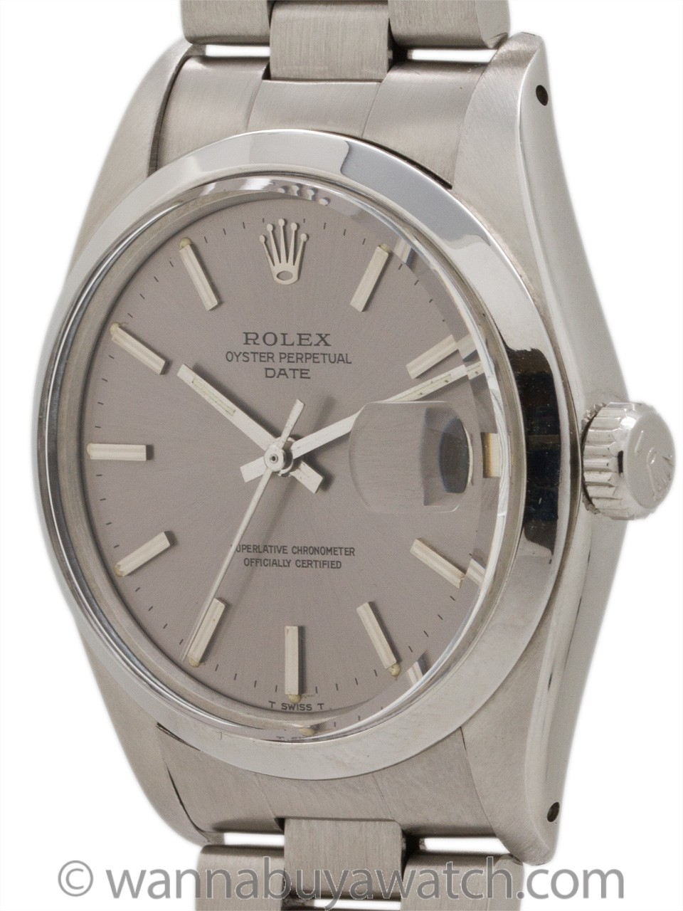 Rolex Oyster Perpetual Date ref 1500 Gray Dial circa 1978