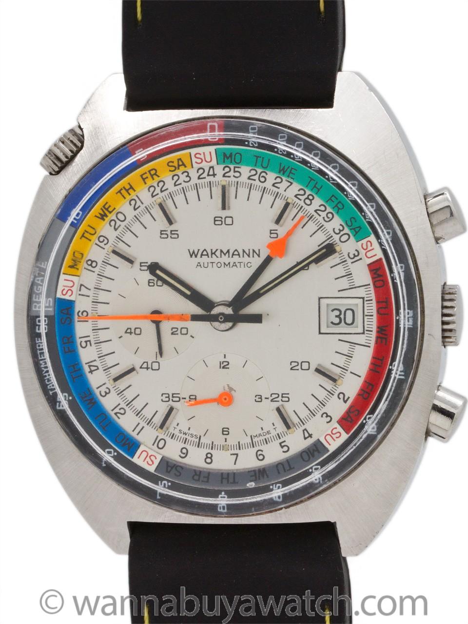 Wakmann Oversize Automatic Regate Chronograph circa 1960's