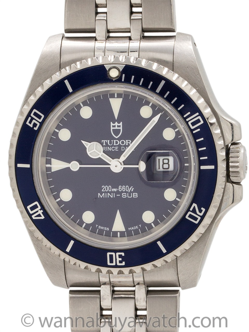 Tudor Stainless Steel Mini-Sub ref 73190 circa 1998