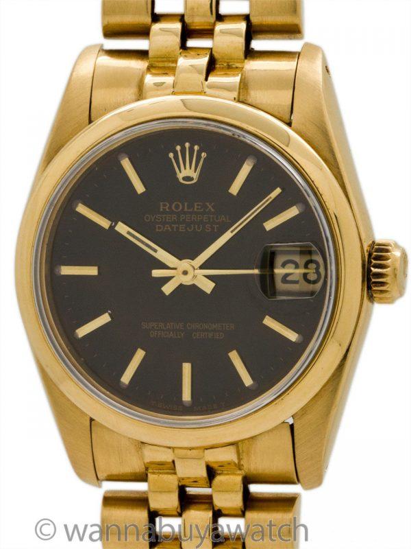 Rolex Midsize Datejust ref 68248 Midsize 18K YG circa 1982