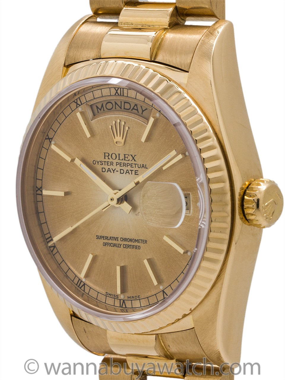 Rolex ref 18038 Day Date President 18K YG circa 1981