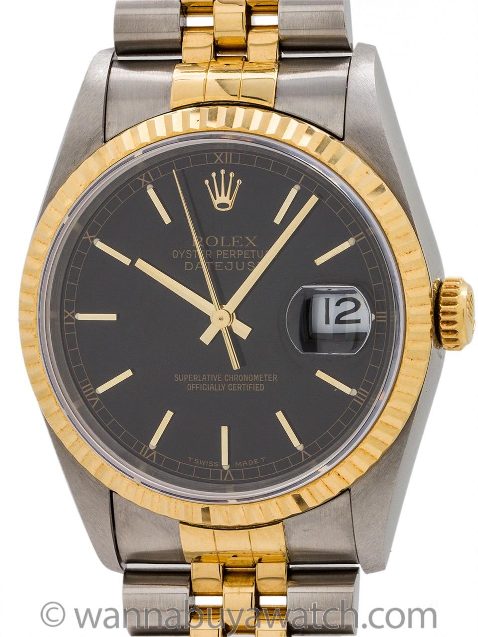 Rolex Datejust ref 16233 SS/18K YG circa 1995