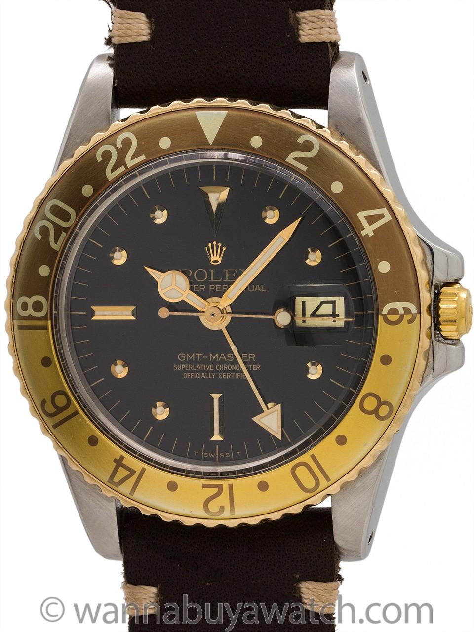 Rolex GMT ref 1675 SS/14K YG Chocolate circa 1978