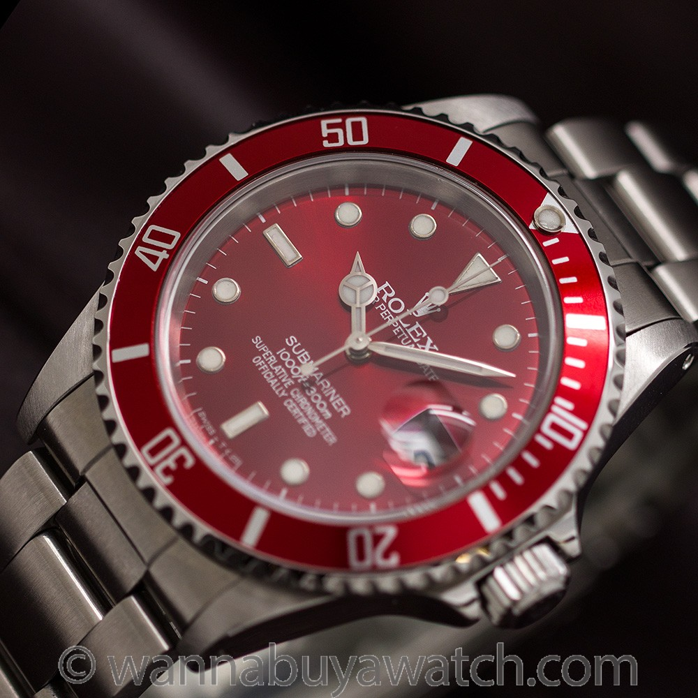 "Rolex Submariner ref 16610 Custom ""Candy Apple"" circa 1997"