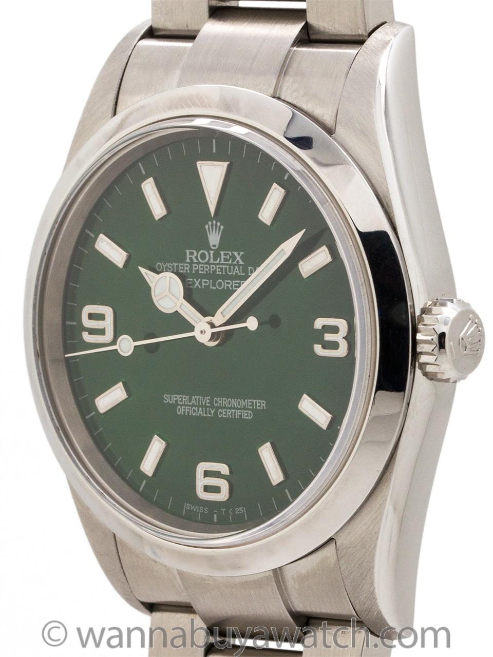 Rolex Explorer 1 ref 114270 Custom Jade Green circa 2003