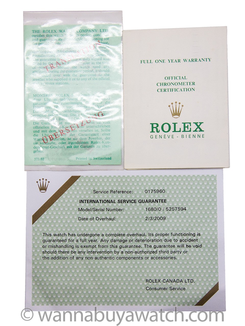 Rolex Submariner ref# 1680 circa 1977 Full Set Box & Papers Exceptional!