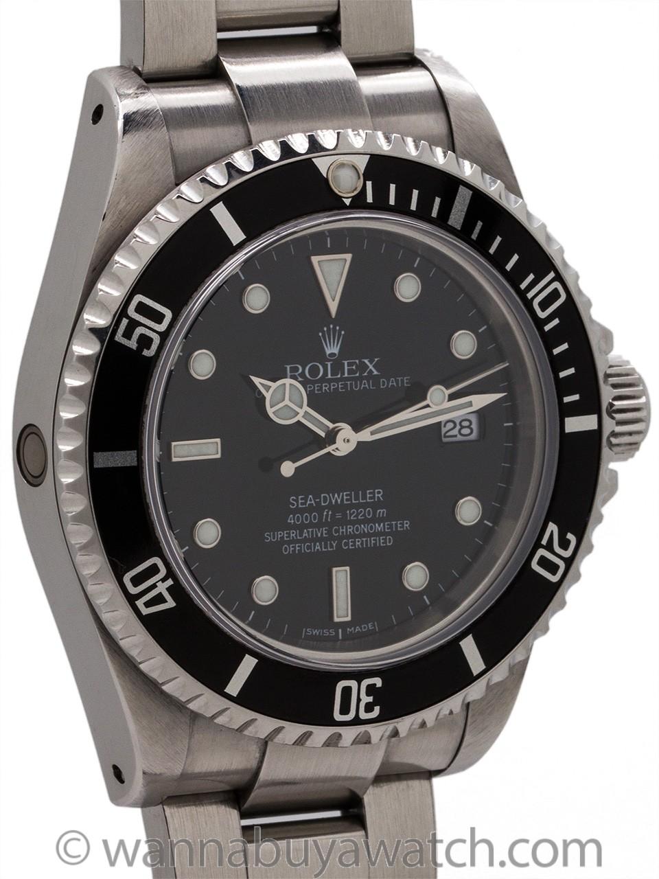 Rolex SeaDweller ref 16600 Stainless circa 2001 Full Set B & P