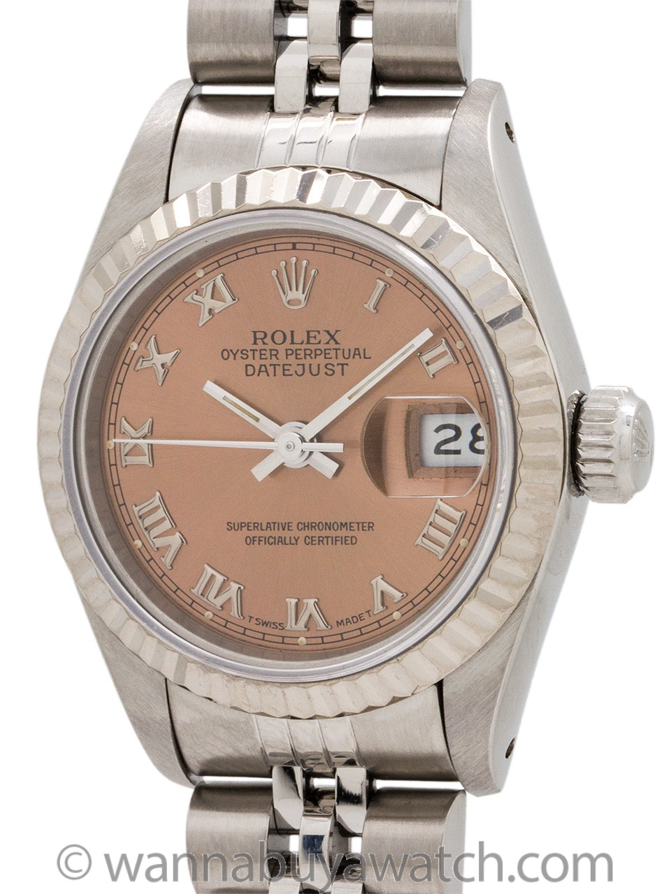 Lady Rolex Datejust ref 69174 Roman Rose circa 1991