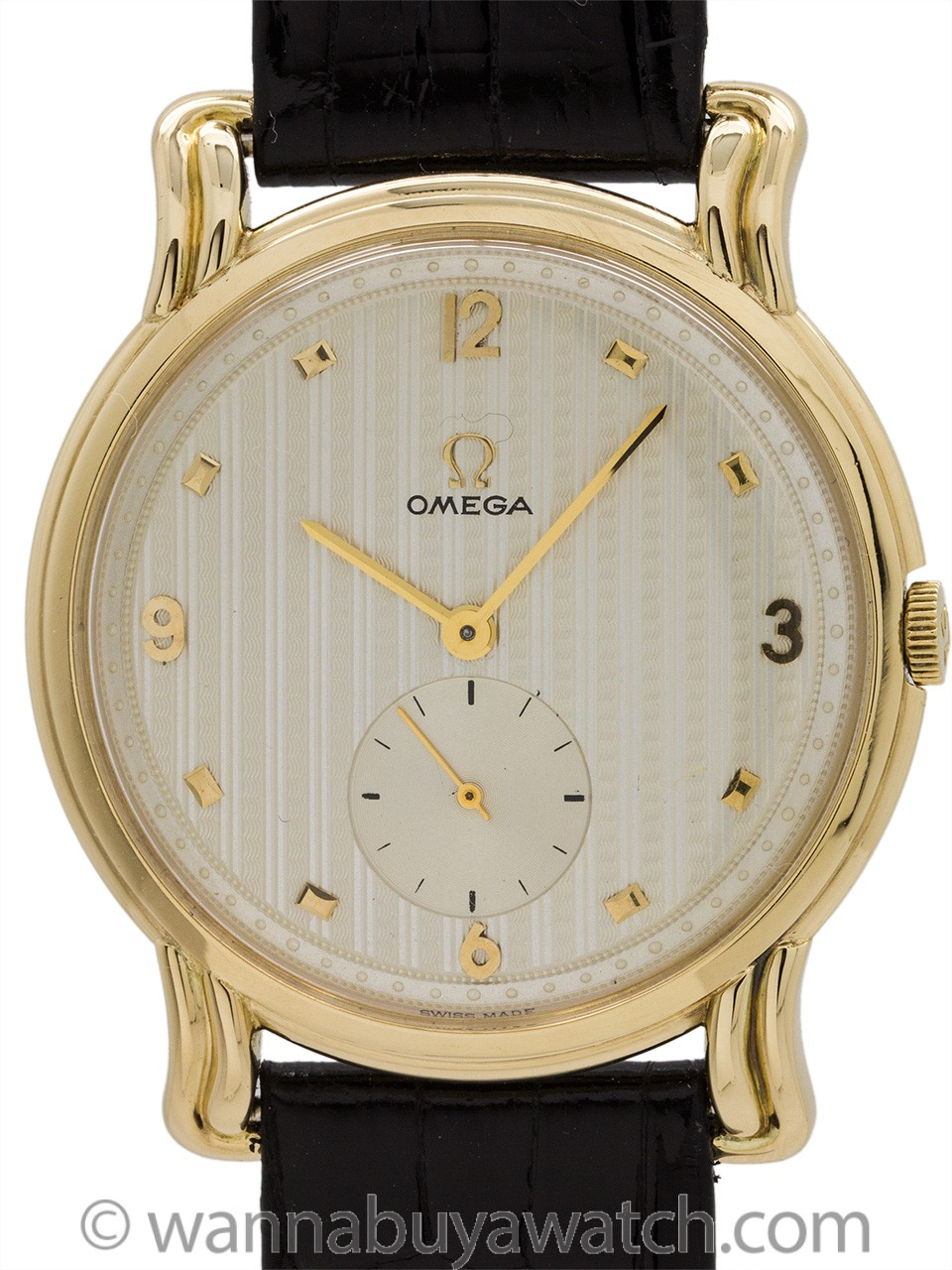 Omega Oversize Fancy Dress Model 14K YG circa 1947