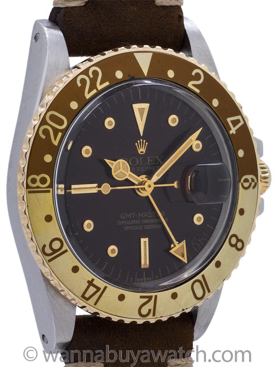 Rolex GMT-Master ref# 1675 SS/14K YG circa 1978