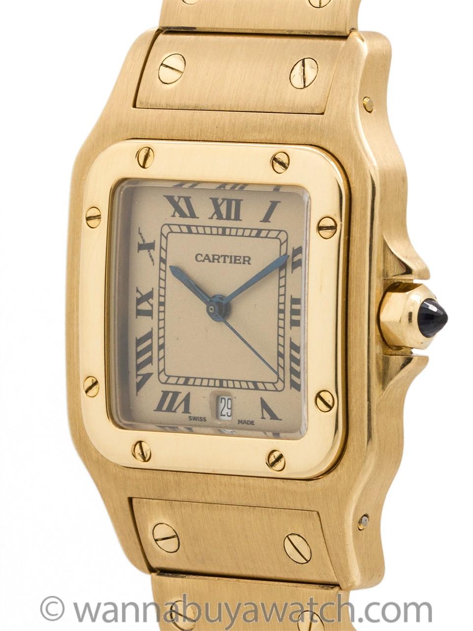 Cartier 18K YG Man's Santos Galbe circa 2000