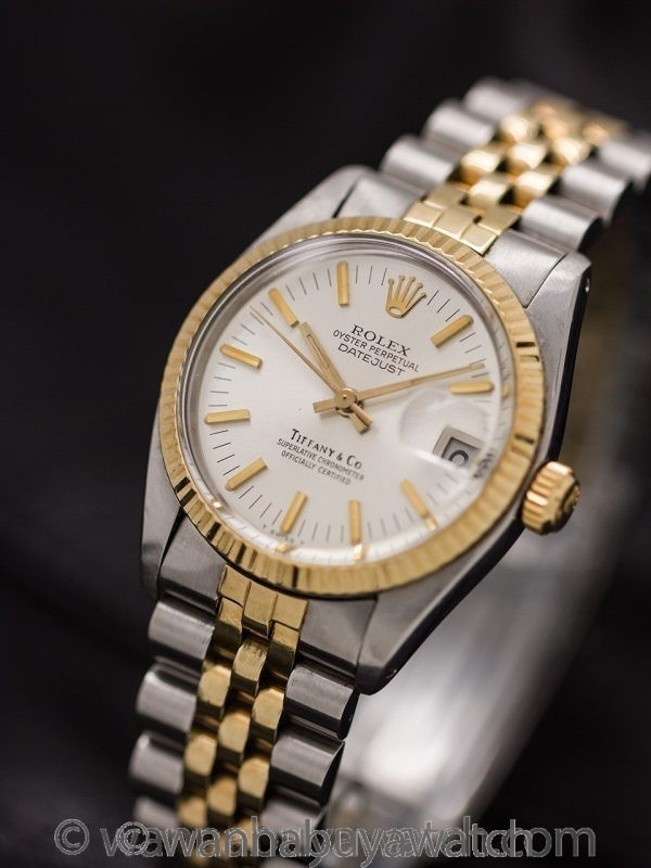Rolex Midsize Datejust Tiffany & Co SS/18K YG ref 6827 circa 1979