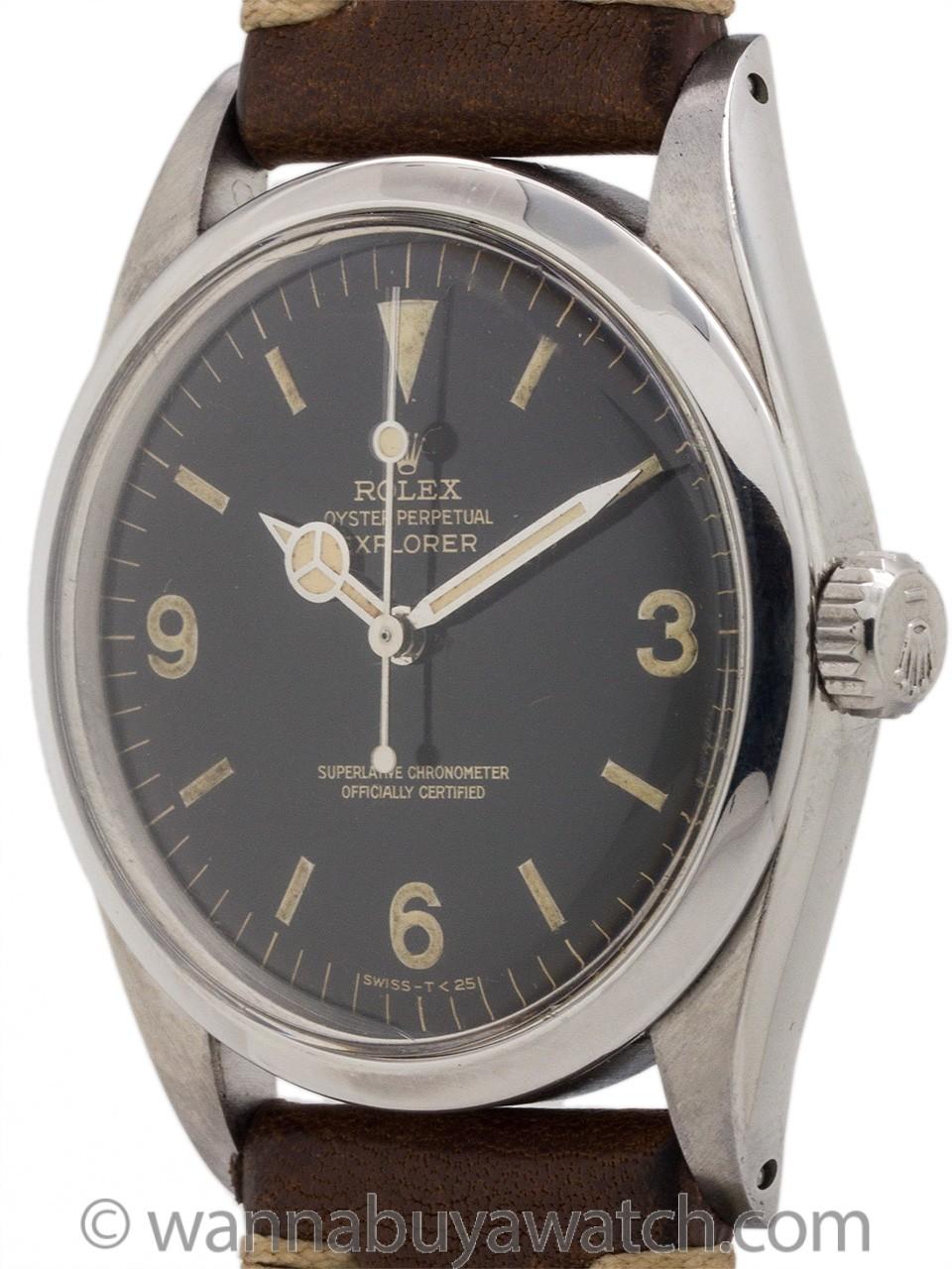 Rolex Explorer 1 ref 1016 Gilt Dial circa 1966