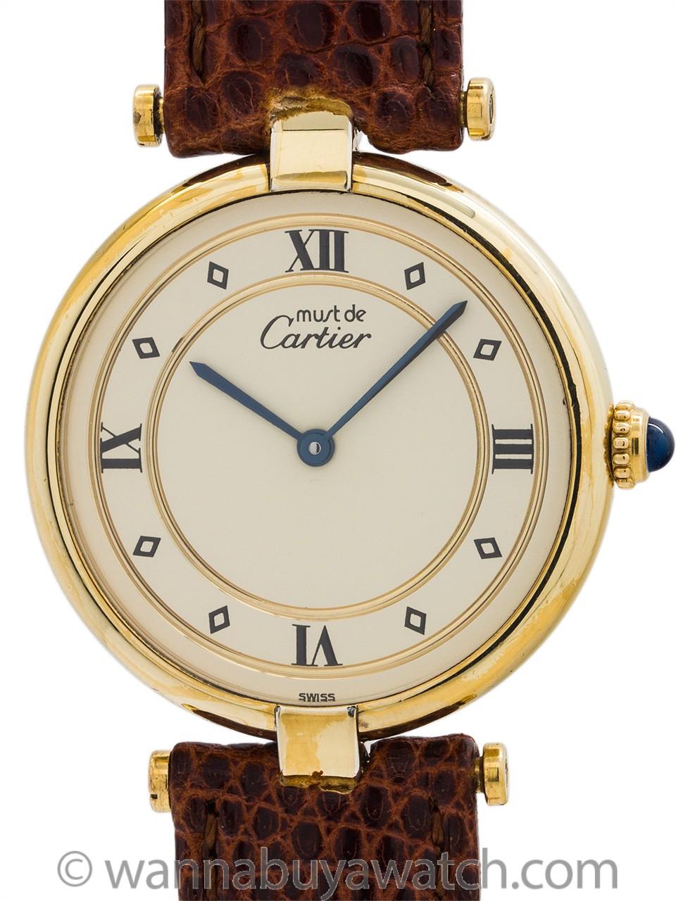 Cartier Vendome Tank Vermeil circa 1990's