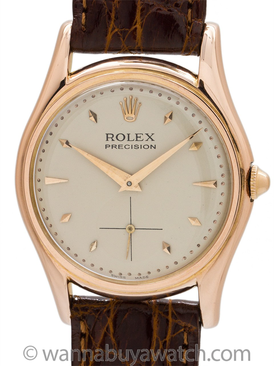 Rolex 18K Rose Gold Dress Model circa 1950's
