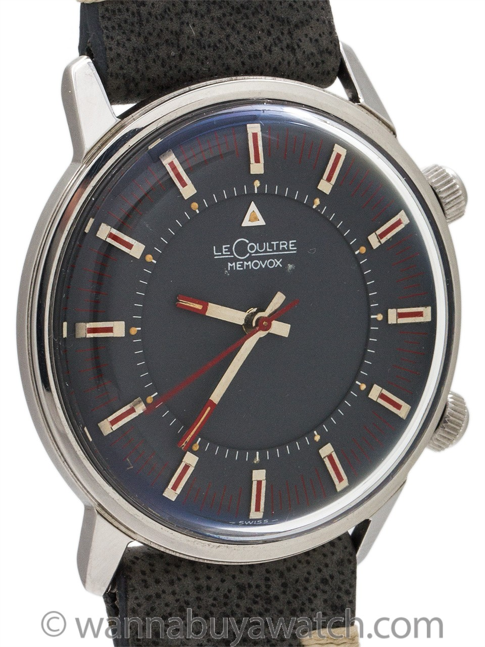 Lecoultre Memovox Alarm Manual Wind Stainless Steel circa 1960's