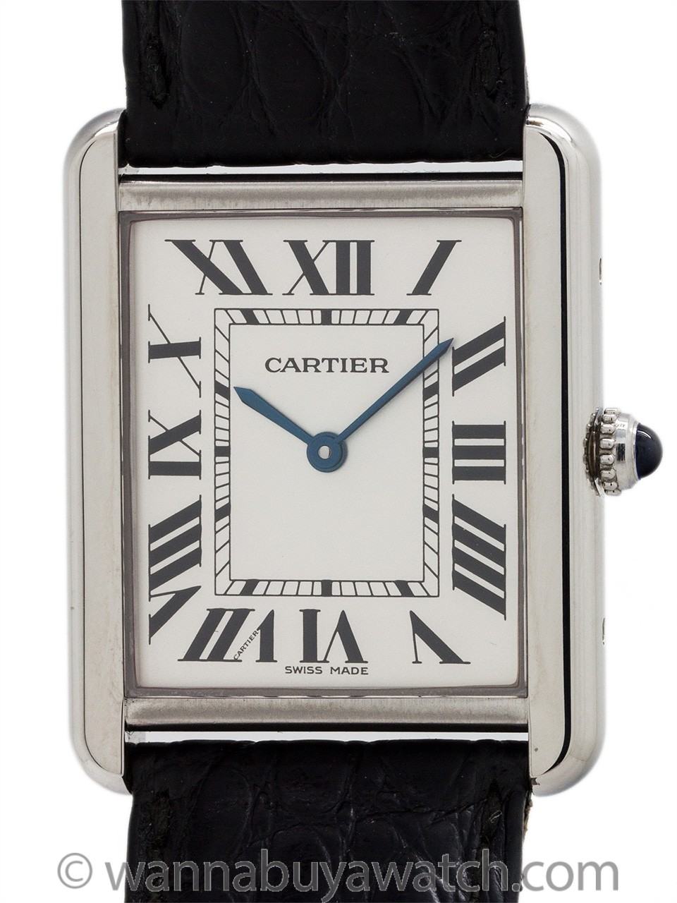 Cartier Man's Tank Solo Stainless Steel ref 2715