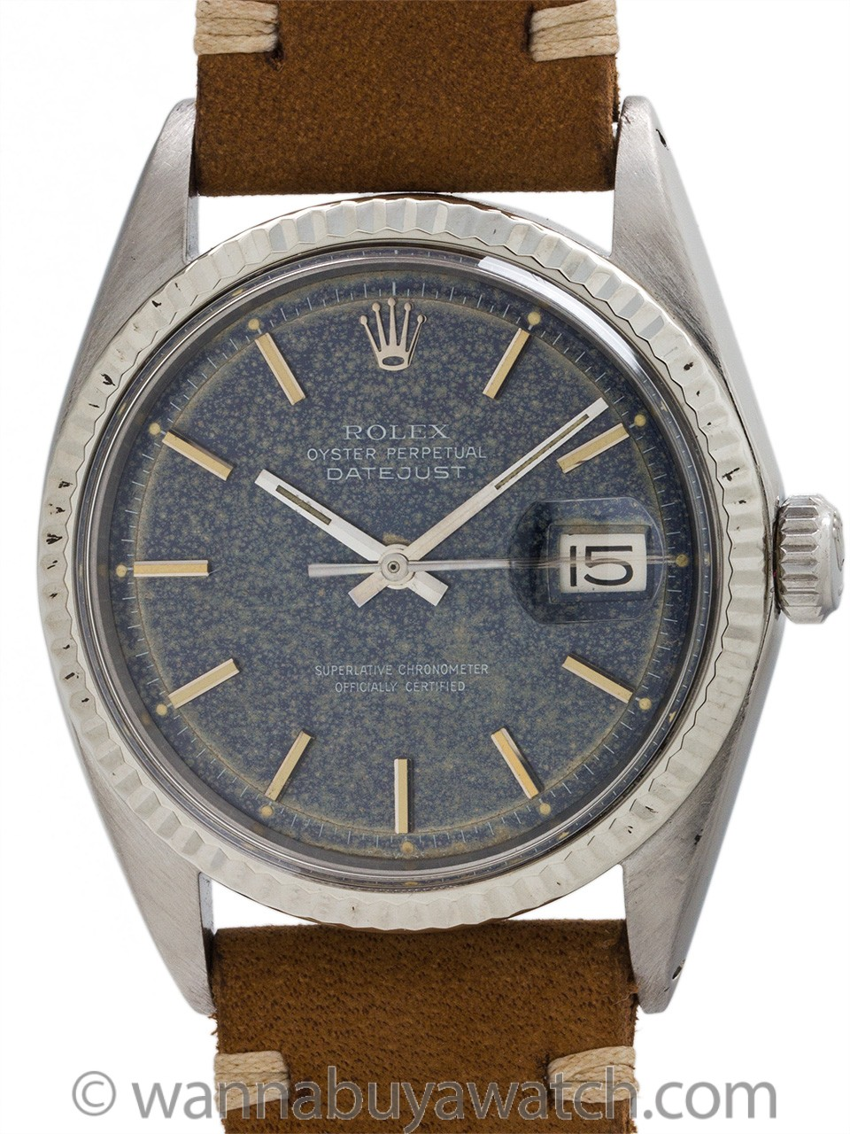 Rolex Datejust ref 1601 Stainless Steel Tropical Dial circa 1971