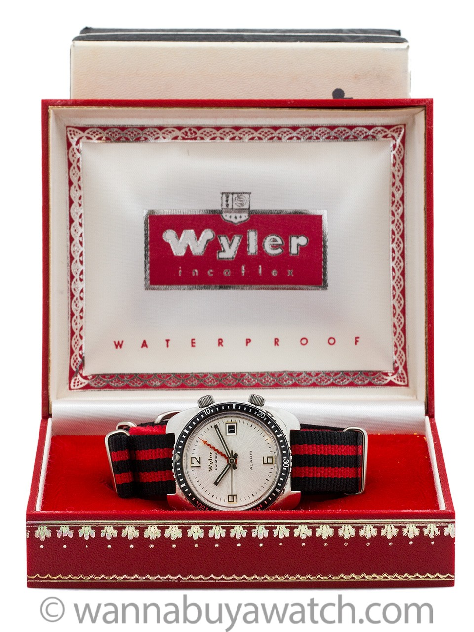 "Wyler Alarm circa 1960's with ""Moderne"" w/ Box"
