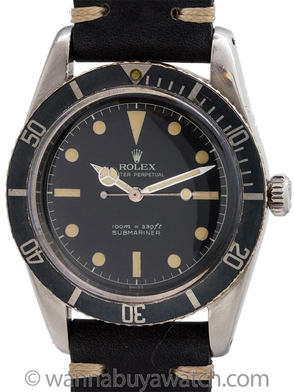 Rolex James Bond Submariner ref 6536 circa 1953