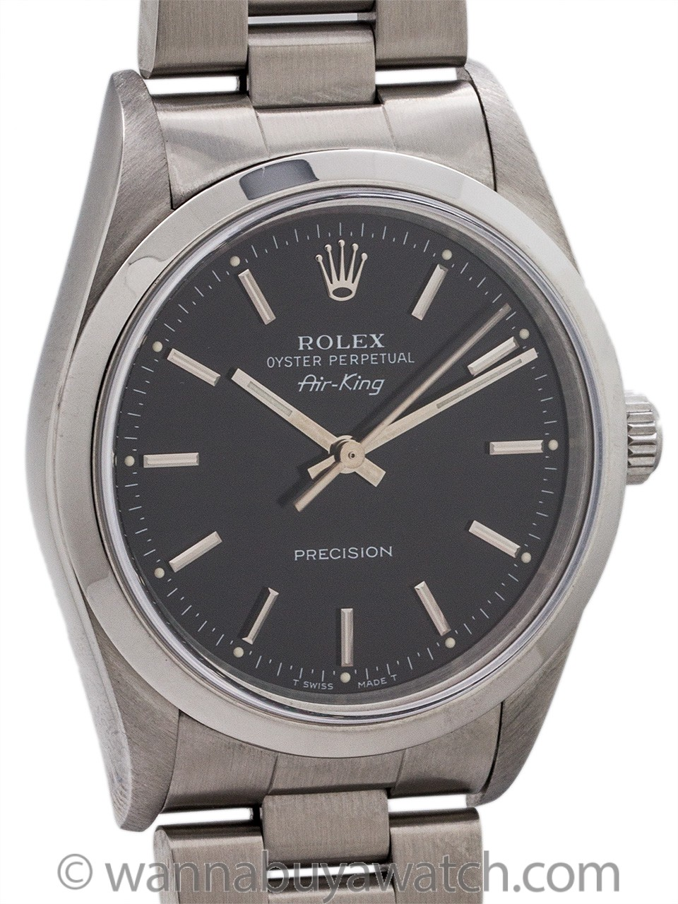 Rolex SS Oyster Perpetual Airking ref 14000 circa 1998