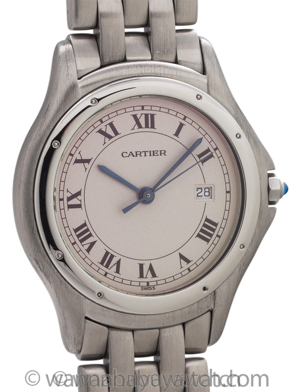 Cartier Man's Cougar Stainless Steel circa 1980's